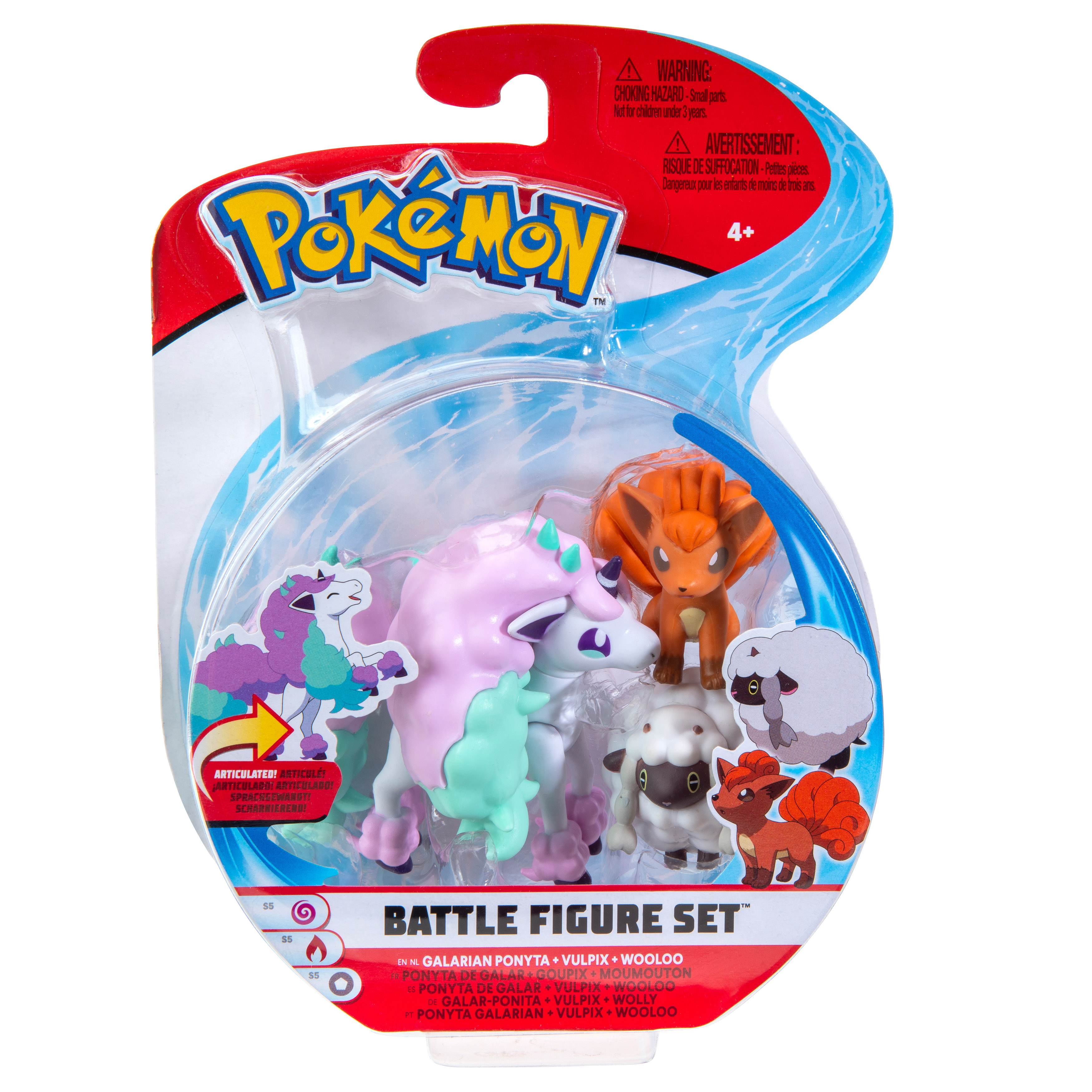 Pokémon - Battle Figur 3er Pack - Wolly, Vulpix & Galar Ponita