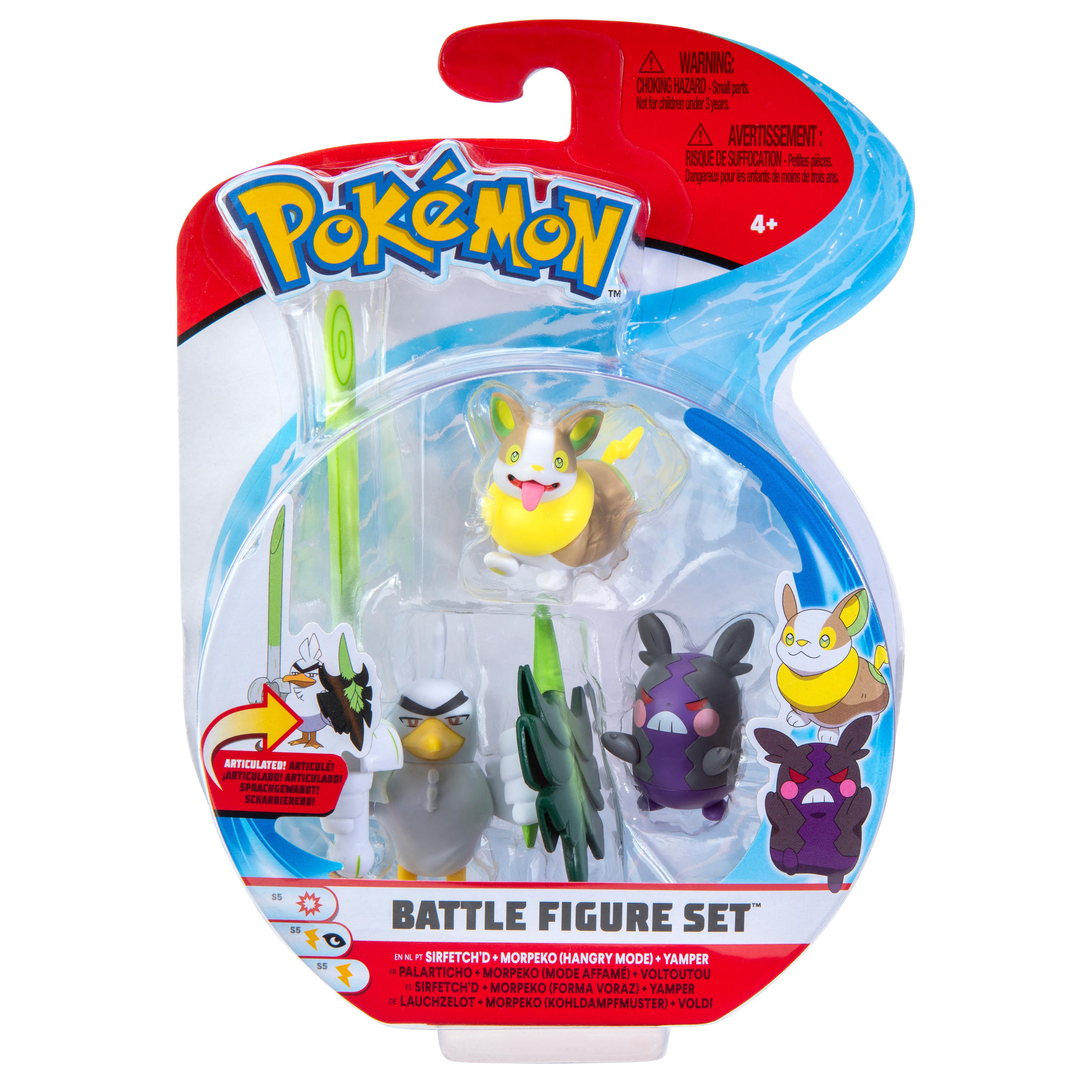 Pokémon - Battle Figur 3er Pack - Voldi, Morpeko & Lauchzelot